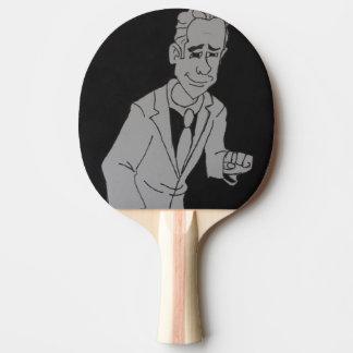 Black & White Man Sketch  Ping Pong Paddle