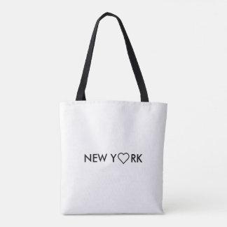 Black & White Manhattan New York Tote Shopping bag