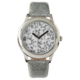 Black white Marble background Wrist Watches