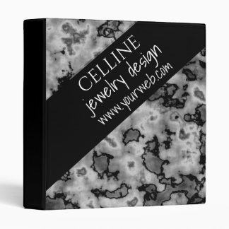 Black White Marble Collage Professional Business Vinyl Binder