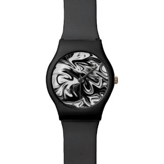 Black White Marble Ladies Black May Watch. Watch