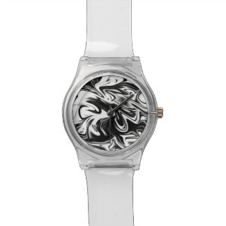 Black White Marble Ladies White May Watch. Wristwatch