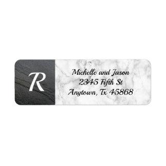 Black White Marble Stone Rock Elegant Classic