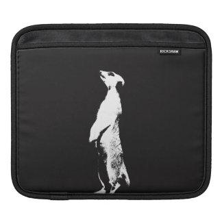 Black & White Meerkat - right - Tablet sleeve