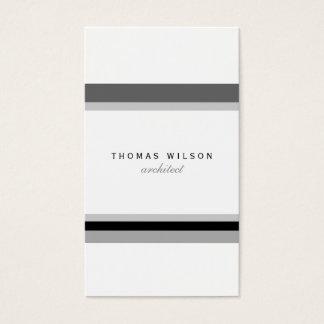 Black white minimal congregation stripes modern business card