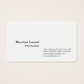 Black & White Minimalist Charming Classical Business Card