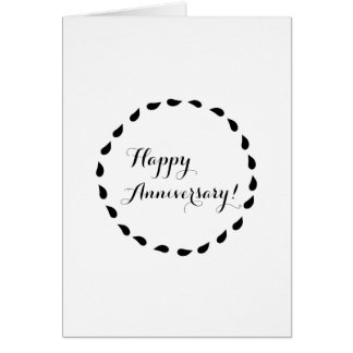 Black White Minimalist Love Anniversary Card