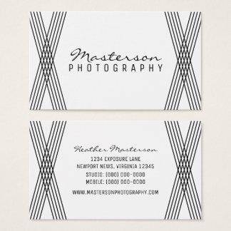 Black & White Modern Deco Business Card