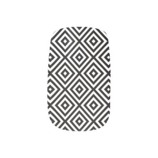 Black & White Modern Geometric pattern Minx Nail Art