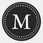 Black & White Monogram Envelope Seal