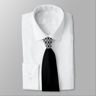 Black White Motif at Necktie Knot by DelynnAddams