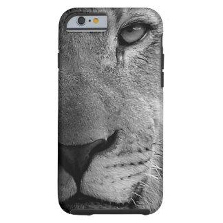Black White Motivational Leadership Lion Portrait Tough iPhone 6 Case
