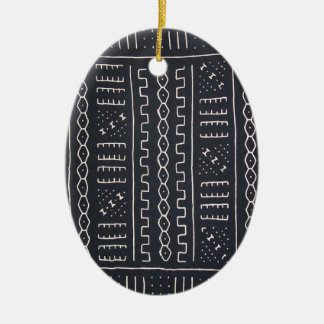 Black & White Mudcloth Ornament