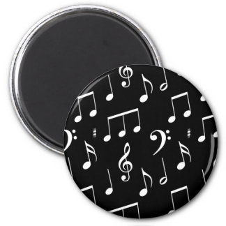 Black & White Music Note Magnet