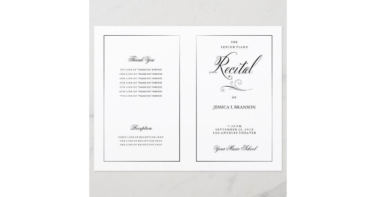 music recital program template images of piano recital program