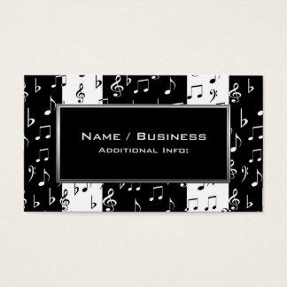 Black & White Musical Stripes Business Card