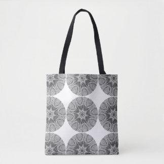 Black & White Mystical Mandala Tote Bags