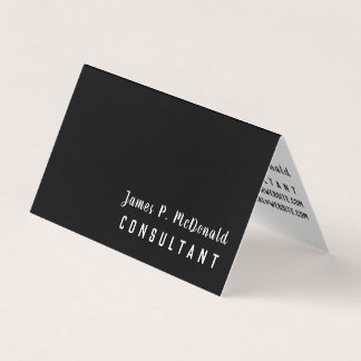 Black White Networking Consultant Business Card