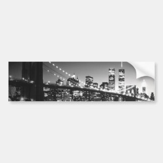 Black & White New York City Bumper Sticker