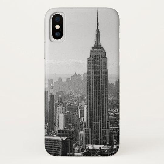 Black & White New York City iPhone X Case