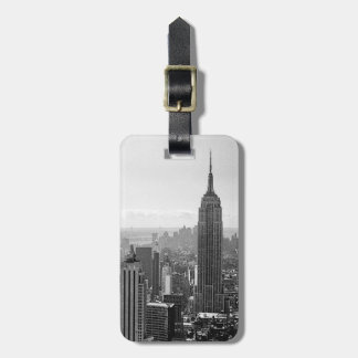 Black & White New York City Luggage Tag
