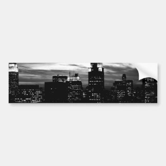 Black & White New York City Midtown Bumper Sticker