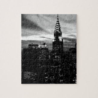 Black & White New York City Midtown Jigsaw Puzzle