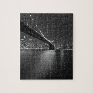 Black White New York City Skyline Jigsaw Puzzle