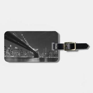 Black White New York City Skyline Luggage Tag