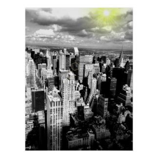 Black & White New York City Skyline Poster