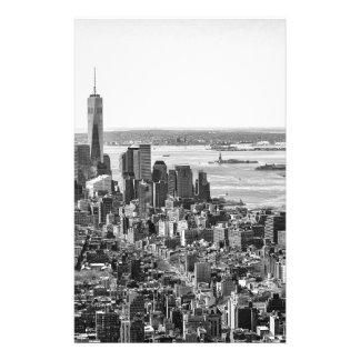Black White New York City Skyline Stationery Design