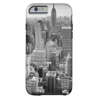 Black White New York City Skyline Tough iPhone 6 Case