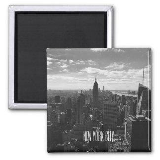 Black & White New York City Square Magnet