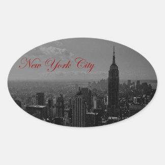 Black White New York City Stickers