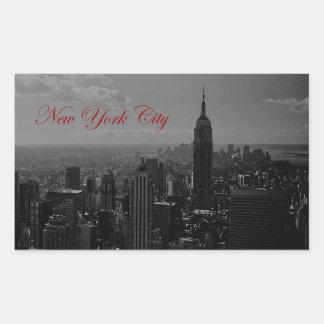 Black White New York City Rectangle Stickers