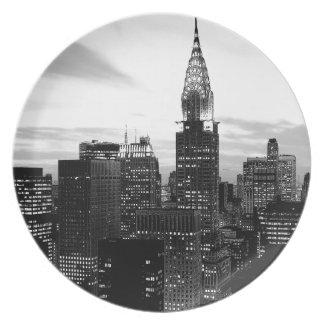 Black & White New York Plate