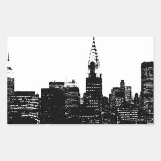 Black & White New York Silhouette Sticker