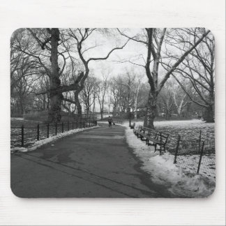 Black White NY Central Park Mouse Pad
