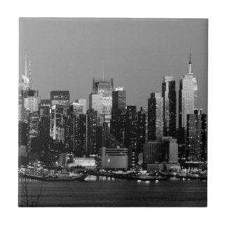 Black & White NY Skyline Tile