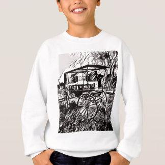Black White Old Time Carriage Sweatshirt