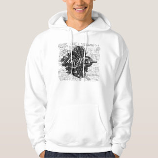 Black & White Only Product Hooded Sweatshirt