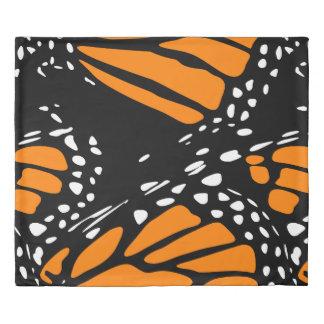 Black, White & Orange Monarch Buttefly Duvet Cover