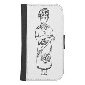 Black & white original drawing s4 wallet case