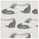 Black White Oxford Tap Shoe Dance Dancer Fabric