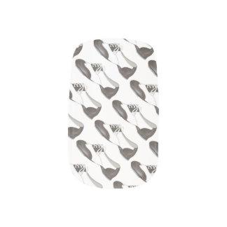 Black White Oxford Tap Shoe Dance Shoes Nail Art