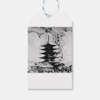 Black & White Pagoda Lace Gift Wrapping Series Pack Of Gift Tags