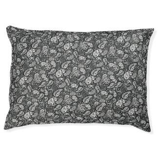 Black & White Paisley Floral Pet Bed