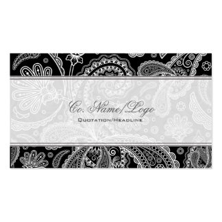 Black & White Paisley Pattern Business Card Template