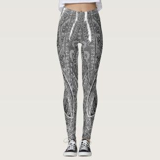 Black & White Paisley Sublime Leggings