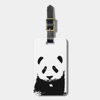 Black & White Panda Luggage Tags
